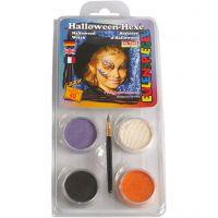 Eugelspiegel Maquillage visage, halloween, couleurs assorties, 1 set