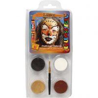 Eugelspiegel Maquillage visage, lion, couleurs assorties, 1 set