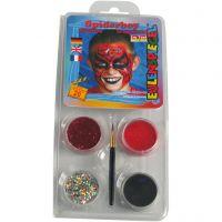 Eugelspiegel Maquillage visage, spiderman, couleurs assorties, 1 set