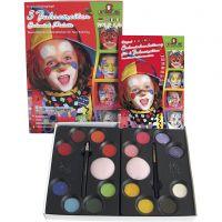 Set maquillage pas à pas, couleurs assorties, 1 set