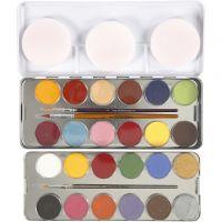 Maquillage visage à base d'eau, couleurs assorties, 24 couleur/ 1 set