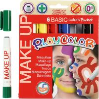 Maquillage Playcolor, couleurs assorties, 6x5 gr/ 1 Pq.