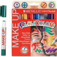 Maquillage Playcolor, Métallisé, couleurs assorties, 6x5 gr/ 1 Pq.