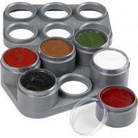 Palette de maquillage pour visage à base d'eau, 6x15 ml/ 1 pièce