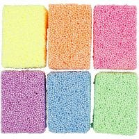 Soft Foam, couleurs néons, 6x10 gr/ 1 Pq.