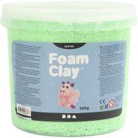 Foam Clay®, paillettes, vert, 560 gr/ 1 seau