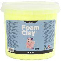 Foam Clay®, paillettes, jaune, 560 gr/ 1 seau