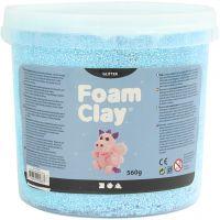 Foam Clay®, paillettes, bleu clair, 560 gr/ 1 seau