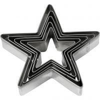 Emporte-pièces, étoile, dim. 8 cm, 5 pièce/ 1 Pq.