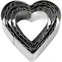 Emporte-pièces, Coeur, dim. 8 cm, 5 pièce/ 1 Pq.