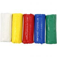 Pâte à modeler douce, H: 9,5 cm, couleurs assorties, 400 gr/ 1 seau