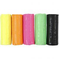 Pâte à modeler douce, H: 9,5 cm, couleurs néons, 400 gr/ 1 seau
