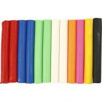Pâte à modeler douce, couleurs assorties, 200 gr/ 1 Pq.