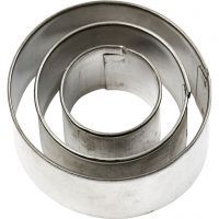 Emporte-pièces, Rond, dim. 40x40 mm, 3 pièce/ 1 Pq.