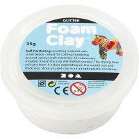 Foam Clay®, paillettes, blanc, 35 gr/ 1 boîte