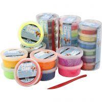 Foam Clay®, paillettes, couleurs assorties, 28 boîte/ 1 Pq.