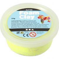 Foam Clay®, paillettes, jaune, 35 gr/ 1 boîte