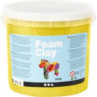 Foam Clay®, Métallisé, jaune, 560 gr/ 1 seau