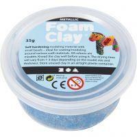 Foam Clay®, Métallisé, bleu, 35 gr/ 1 boîte