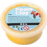 Foam Clay®, jaune, 35 gr/ 1 boîte