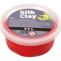 Silk Clay®, rouge, 40 gr/ 1 boîte