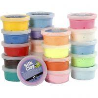 Silk Clay®, couleurs assorties, 20x40 gr/ 1 Pq.