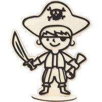 Figurine décorative, pirate, H: 19 cm, 1 pièce