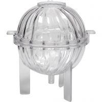 Moule pour bougie, Boule à spirales, H: 70 mm, 1 pièce