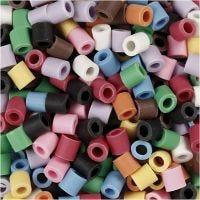 Perles Nabbi Bio, dim. 5x5 mm, medium, couleurs assorties, 3000 pièce/ 1 Pq.