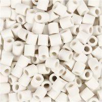 Perles Nabbi Bio, dim. 5x5 mm, medium, blanc, 3000 pièce/ 1 Pq.