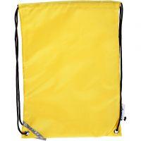 Sac à dos, dim. 31x44 cm, jaune, 1 pièce