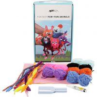 Kit de laine DIY - Animaux, 1 set