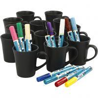 Décoration de tasses, couleurs assorties, 1 set, 36 pièce