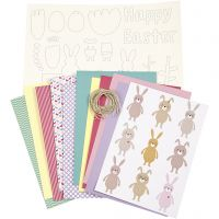 Kit de décorations, couleurs pastel, 1 set