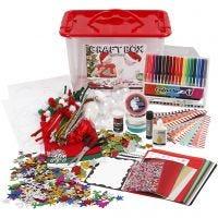 Matériel de loisirs créatifs avec boîte de rangement, couleurs assorties, 1 pièce