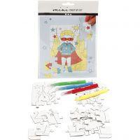 Mini kit créatif, super-héros, blanc, 1 set