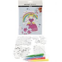 Mini kit créatif, princesse, blanc, 1 set