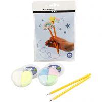 Mini kit créatif, crayons, 1 set