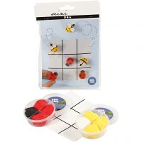 Mini kit créatif, tic-tac-toe, 1 set