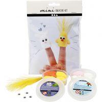 Mini kit créatif, marionnettes à doigts, 1 set