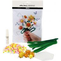 Mini kit créatif, fleurs, 1 set