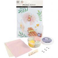 Mini kit créatif, cycle de vie du papillon, 1 set