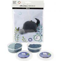 Mini kit créatif, Baleine et veau, 1 set