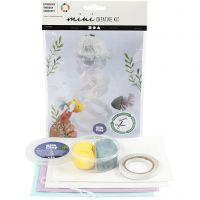 Mini kit créatif, Méduse et poisson, 1 set