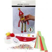 Mini kit créatif, Clown fait à partir d'un rouleau de papier toilette, 1 set
