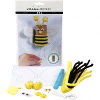 Mini kit créatif, Une abeille faite à partir d'un rouleau de papier toilette, 1 set