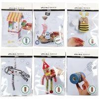 Mini kits créatifs, 6 set/ 1 Pq.