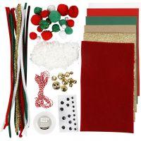 Assortiment de matériel créatif, Noël, 1 Pq.