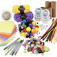Kits - Figurines faites à partir de tubes en carton, couleurs Joyeuses, 1 set