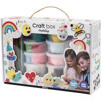 Set de pâtes Foam Clay® et Silk Clay®, couleurs assorties, 1 set